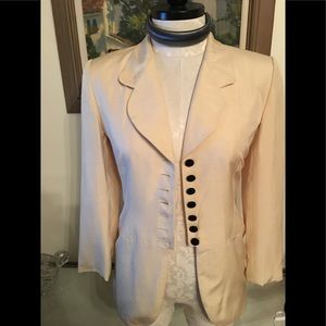 Christian Dior Vintage raw silk jacket Sz 8 EUC